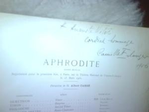 photo of autographed score