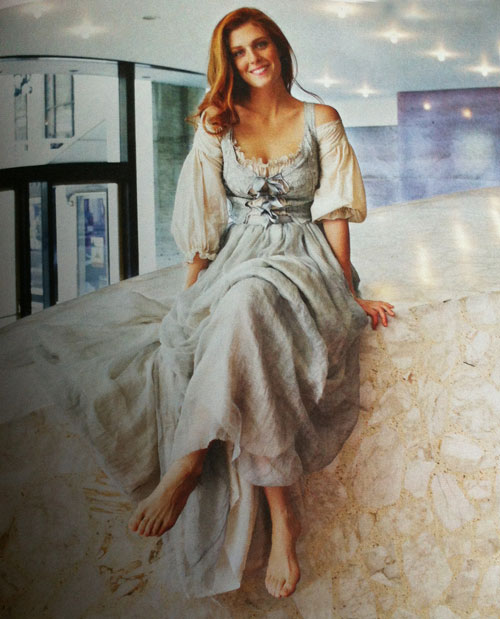 Mezzo-soprano Wallis Giunta as she appears in re:porter, Porter Airlines magazine (photo: Michael Edwards; costume by Camille Assaf)