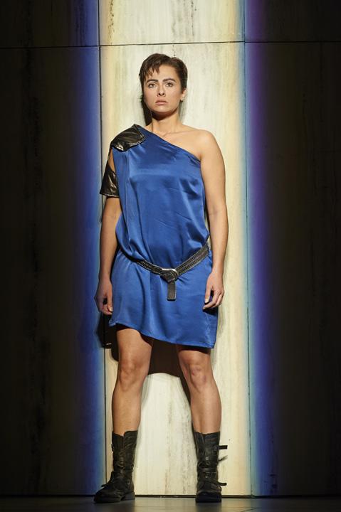 Isabel Leonard as Sesto in the Canadian Opera Company's production of La clemenza di Tito, 2013, director Christopher Alden . Photo: Michael Cooper