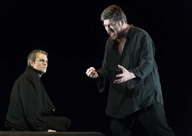 Franz-Josef Selig with Ryan McKinny from the COC's Tristan und Isolde (Photo: Chris Hutcheson)