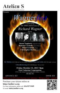 Wagnerfest 2013 poster