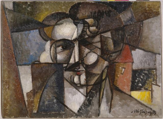 Albert Gleizes: Head in a Landscape (Tête dans un paysage) 1912–13 Oil on canvas Solomon R. Guggenheim Museum, New York,  The Hilla Rebay Collection