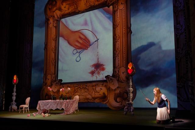 Layla Claire as Fiordiligi in the Canadian Opera Company's new production of Così fan tutte, 2014. Photo: Michael Cooper