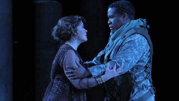 Alice Coote as Dejanira and Eric Owens as Hercules in the Canadian Opera Company/Lyric Opera of Chicago co-production of Hercules, directed by Peter Sellars. (Dan Rest/COC)