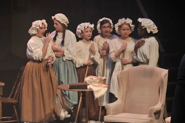 Charwomen from A Dickens of a Christmas (Errol Gay, composer, & Michael Albano, librettist/stage director)