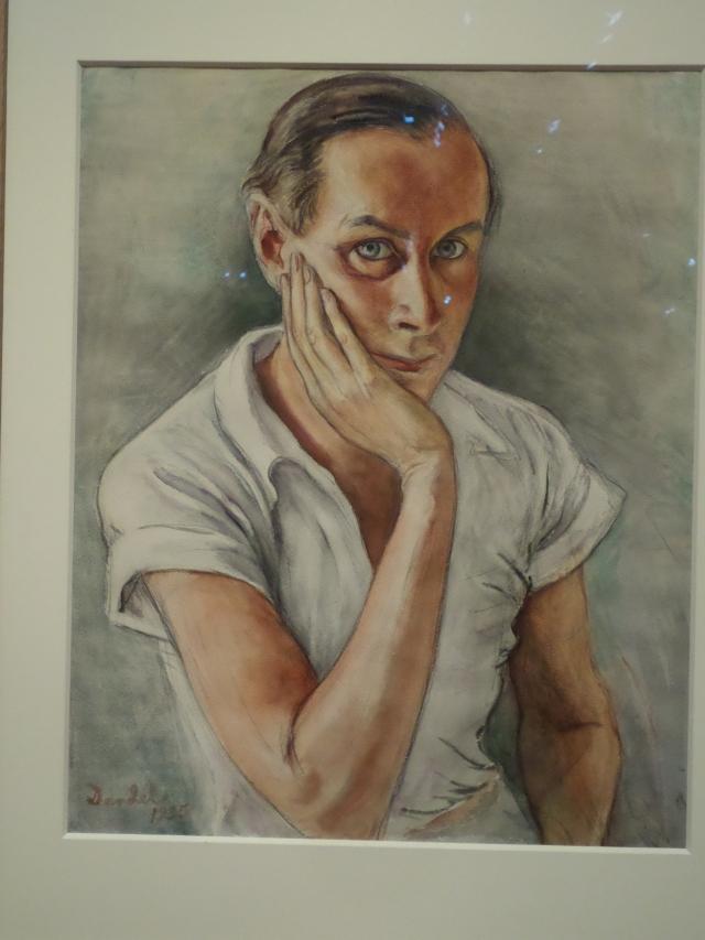 Self-portrait, Nils Dardel (photograph by Leslie Barcza)