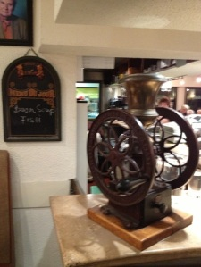 There really was a coffee mill in the Coffee Mill. The coffee was amazing.