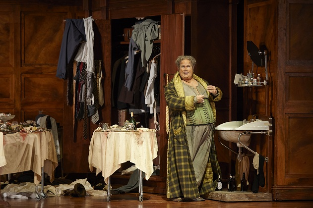 Gerald Finley as Sir John Falstaff in the Canadian Opera Company production of Falstaff, 2014. Photo: Michael Cooper