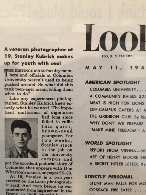 A picture of a young Kubrick in Look Magazine