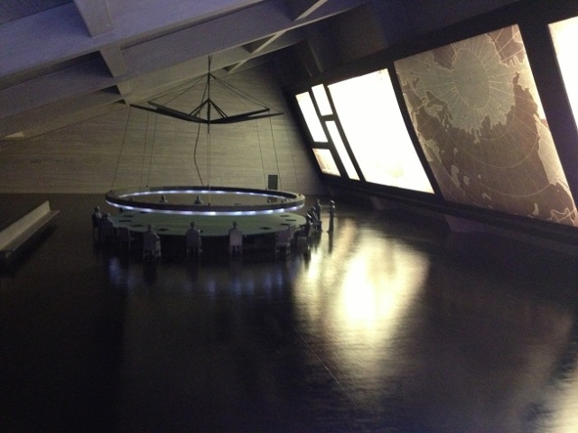 Model of war-room from Dr Strangelove