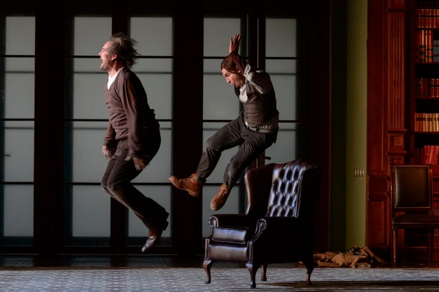 (l-r) Russell Braun as Don Giovanni and Kyle Ketelsen as Leporello  (Photo: Chris Hutcheson)
