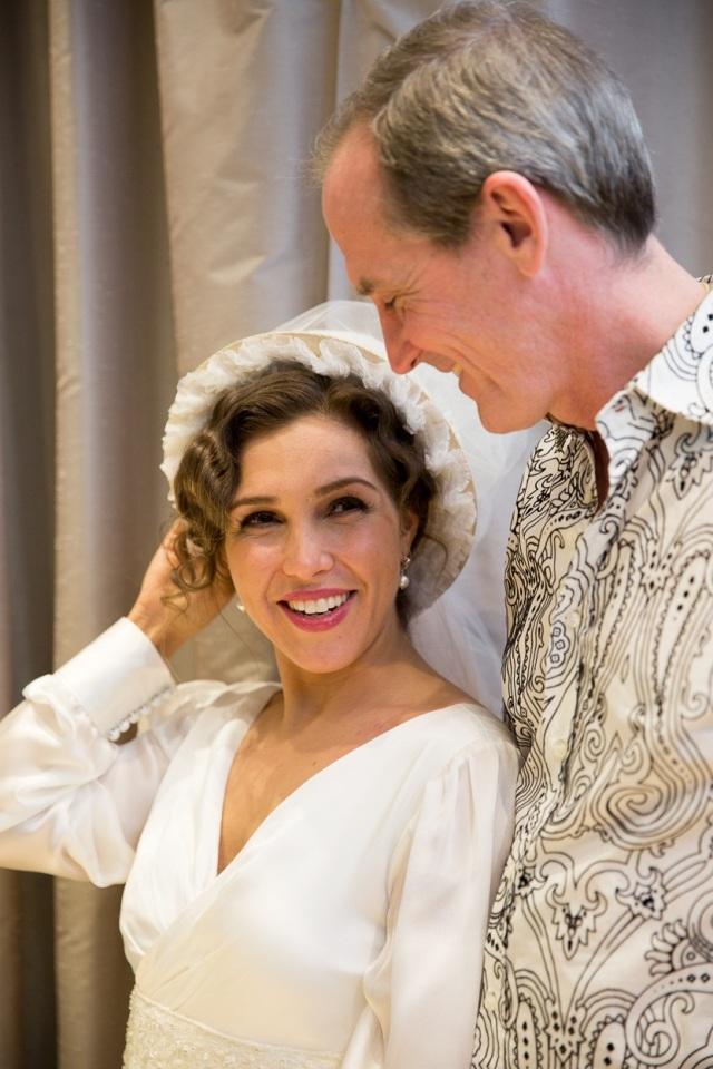 Bride-to-be Susanna (Sasha Djihanian) with designer David McCaffrey