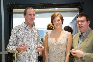 (left to right) David McCaffrey , Wallis Giunta and  Kevin Mallon, Opera Lyra's Interim Artistic Director & the conductor of Marriage of Figaro.