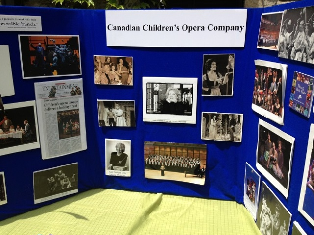Lots of photos were displayed, including a few from before the CCOC. The two B & W shots to the right of centre show her playing Despina & Violetta.