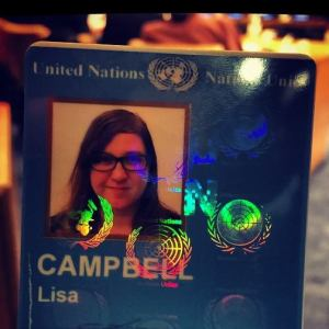 Lisa Campbell's United Nations ID