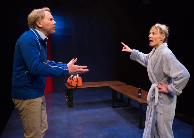 Chris Earle (left) and Philippa Domville in The Trouble with Mr Adams at Tarragon Theatre (Photo by Cylla von Tiedemann)