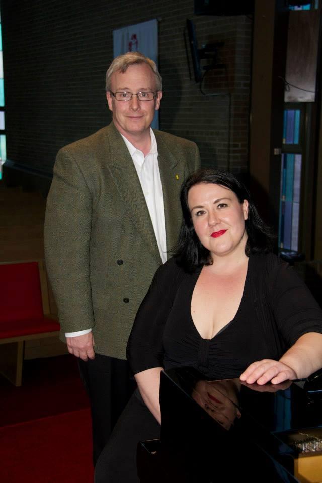 John Henry, Mayor of Oshawa, and Kristine Dandavino, Artistic Director of Opera Oshawa