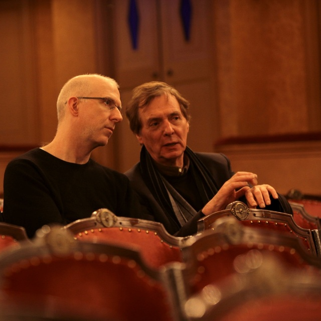 Director Matthew Jocelyn and Composer Phillipe Boesmans (photo: ©Isabelle Françaix)