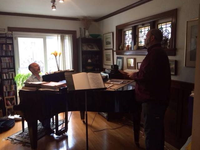 Brahm Goldhamer with baritone Michael York (photo: Kira Braun)
