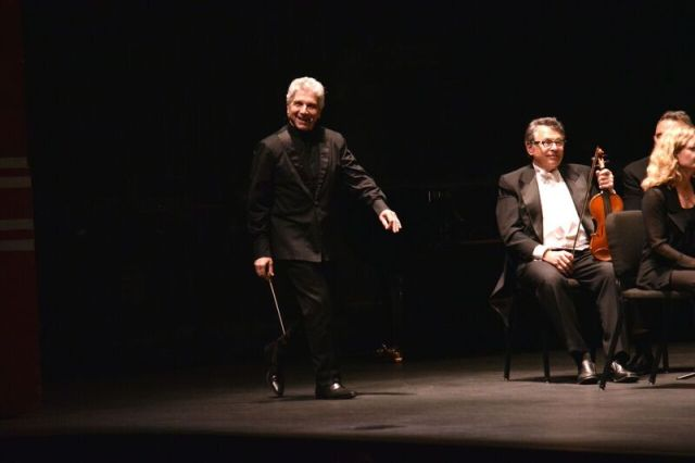 Peter Oundjian soaking up some of that Florida warmth, aka applause after the concert (Photo: Michael Morreale)