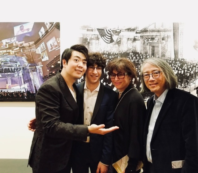 Maxim with his teachers Lang Lang, Tema Blackstone, and Hung-Kuan Chen